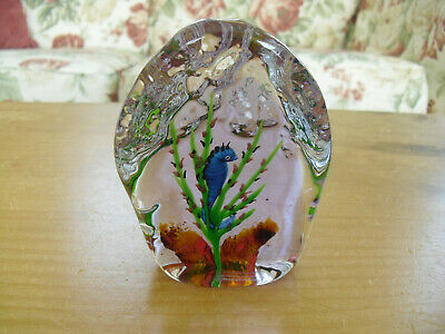 "Ltd Ed Caithness ""Seahorse"" Paperweight William Manson(33/150) - >4"""