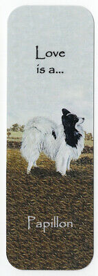 Papillon Dog Beautiful Dog Bookmark Same Image Both Sides Great Gift