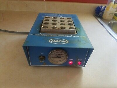 Hach Cod Reactor 16500-10 Well Dry-Bath Incubator Heater Works Free Shipping