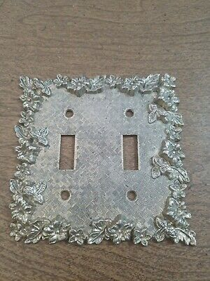 Edmar Double Light Switch Cover Gothic Victorian Mid Century Vintage