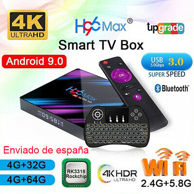 H96 Max Android 9.0 4GB 64GB Tv Box RK3318 2.4G&5.8G WiFi 4K Internet Caja de TV