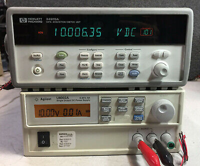 Agilent HP 34970A Data Acquisition Data Logger Switch Unit w/ 6.5 Digit DMM