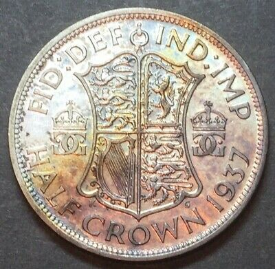 King George VI 1937 Silver Half Crown Coin