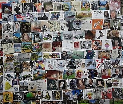 GB Kiloware 250 stamps inc High Values & Multi Issues 2001-2019 Off Paper - J9