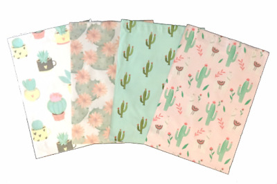 10x13 Cactus Variety Pack, Designer Poly Mailers, Self Seal Adhesive, Tear-Proof