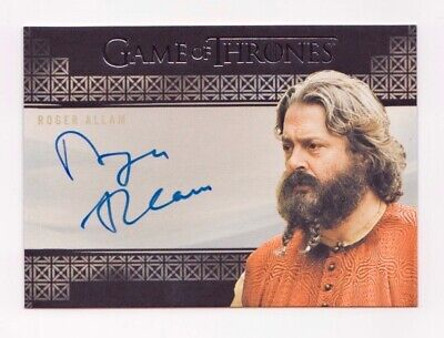 Game of Thrones Roger Allam as Magister Illyrio Autograph 2019 Rittenhouse Auto