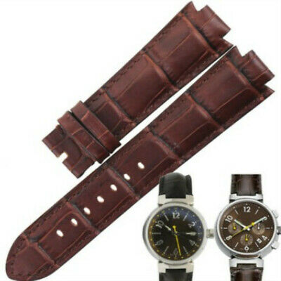 18 21mm Leather Replacement Watch Strap Band For LV Louis Vuitton Tambour series
