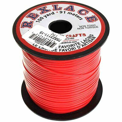 "Plastic Craft Lace 3/32"" X 100 Yds Red"