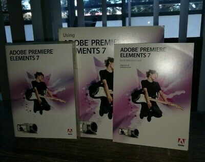 Adobe Premiere Elements 7 with Manual and Licence