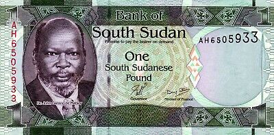 SOUTH SUDAN 1 Pound 2011 P5 UNC Banknote