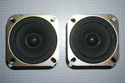 """3/"""" Paper Cone Tweeters 4/"""" Frame 8ohm Pair for Fisher Curtis Mathes Sharp 2 NEW"""