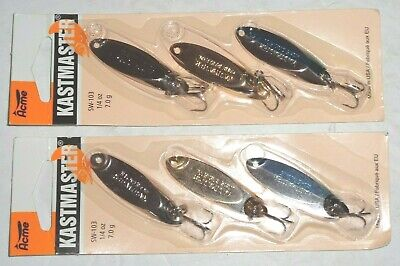 Silver /& Gold 1//4 oz 2  Acme Tackle PHOEBE Fishing Lures