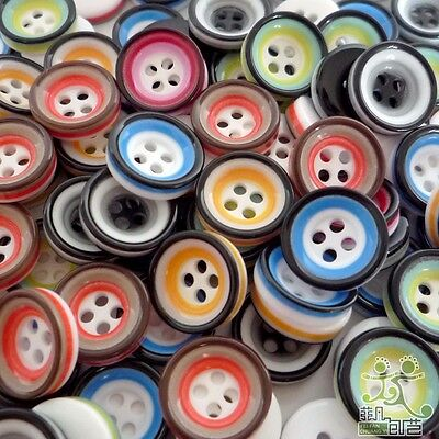 100pcs Round Circle Resin Buttons Lots 11MM Craft Sewing Scrapbook DIY Cards