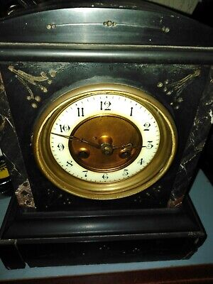 Antique 19th Century  Slate and Marble Mantel Clock   UK mainland only
