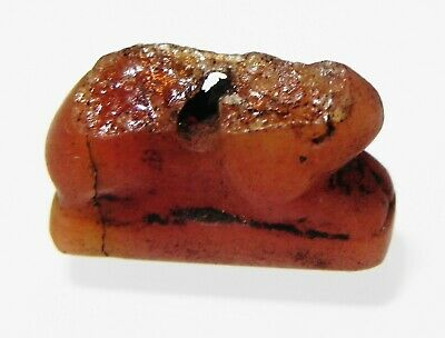 ZURQIEH -as13133-  ANCIENT EGYPT, CARNELIAN  AMULET OF A HARE. 1400 - 1200 B.C