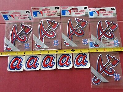 Vintage Atlanta Braves Patches  5 Pc. Lot  Old School Logos  Free Shipping #1