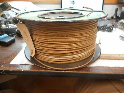 Nos Spool Of Cloth Covered Wire Plastoid Corp 18 Awg Wire 1000 Ft Mfg 9/63