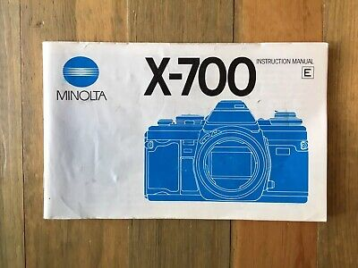 Minolta X-700 SLR 35 mm Film Camera Instruction Manual Only English Vintage