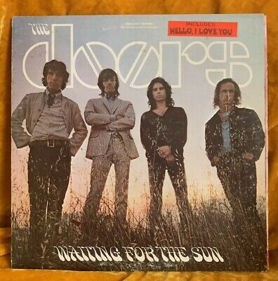 THE DOORS - WAITING FOR THE SUN 1968 1st Press Hype Sticker NM LP