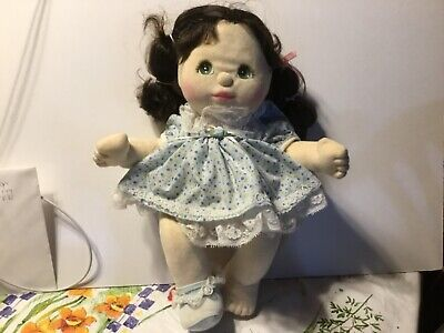 Vintage My Child Doll from 1985 still in original light blue with lace