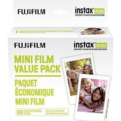 Fujifilm Instax Mini Instant Film Value Pack 60 Total Pictures Package may vary)