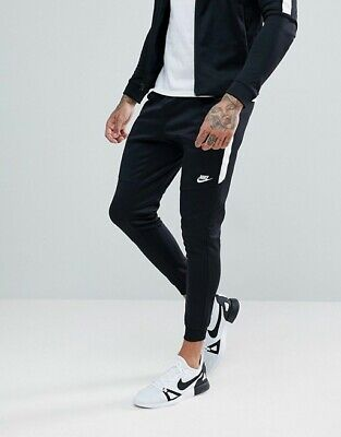 8a7b0cdf9542bd NEW MENS L LARGE NIKE TRIBUTE PANTS JOGGERS SLIM WHITE BLACK 861652 010  casual