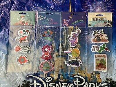 Disney Parks Epcot Flower Garden Festival 2019 Embroidered Patches NEW Set Of 4