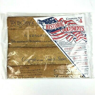 American Historic Document Replicas Set Constitution, Independence, Etc. USA