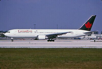 6A -Canadian-Air Canada-Color - B767-3 -C-Fcaf - Kodachrome Slides Airline