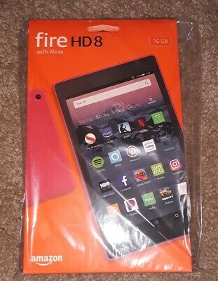 (SEALED)Amazon Fire HD 8 (8th Generation) 16 GB, Wi-Fi, 8 in - Red (WITH ALEXA)
