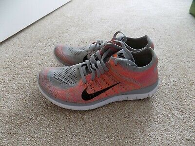 Details about Nike Free 4.0 Flyknit Womens Size 7 Running Shoes Purple Black White 631050 005