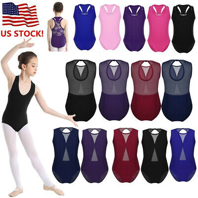 568190d80330 US Kids Girls Ballet Gymnastics Leotards Dance Dress Tutu Skirt Bodysuit  Costume