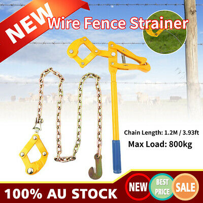 Wire Fence Strainer Tensioner Plain & Barbed Fencing Reinforce1.2m Chain Heavy