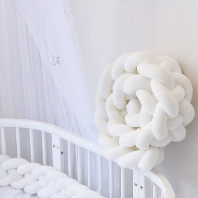 Baby Plush Crib Car Bed Linen Cot Braid Pillow Pad Protection 2M  A3X