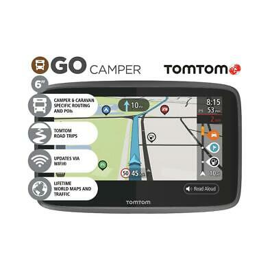 "TomTom GO Camper 6"" GPS Wi-Fi Sat Nav Lifetime World Maps Traffic Speed Cameras"