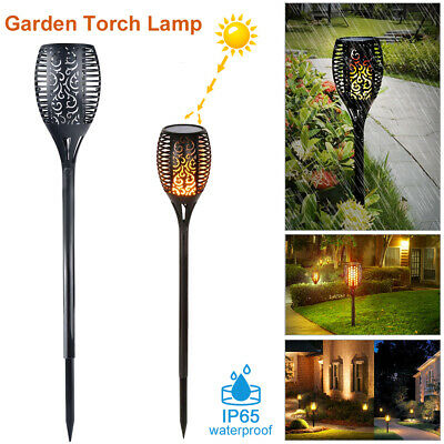 1/2/4 Pack Solar Torch Lights LED Flickering Lighting Dancing Flame Garden Lamp