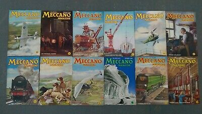 Meccano magazines in original packaging: 12 volumes Jan 1946 to Dec 1946