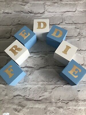 Personalised Baby Name Wooden Letter Blocks.Perfect gift For New Baby