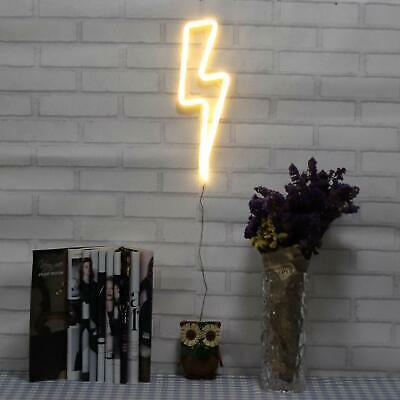 Lightning Shape Neon Sign Light Pub Night Game Room Beer Bar Bedroom Decor Cave