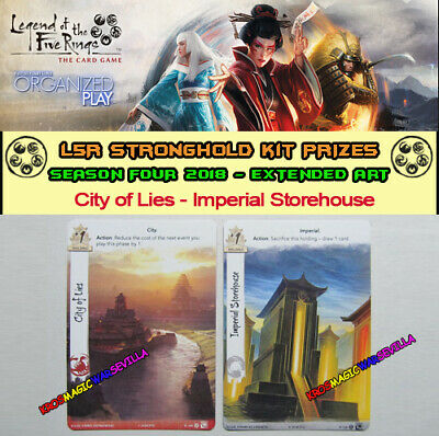 LEGEND OF THE FIVE RINGS L5R LCG - City of Lies - Promo Stronghold Kit 4 2018