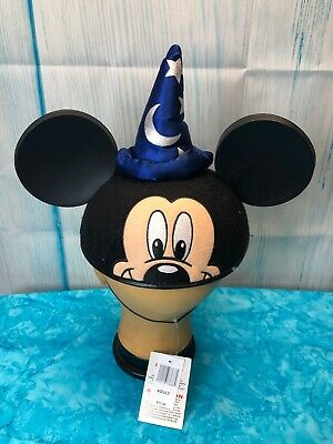 Authentic Disney Parks Mickey Mouse Wizard Hat Ears Hat Black Size Adult NWT