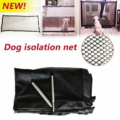 Safety Enclosure Dog Gate Barrier Mesh Safe Pet Anywhere Magic Guard&Install &H