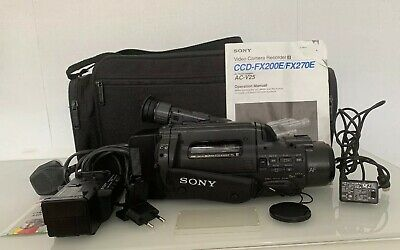 SONY CCD-FX200E CAMCORDER Handycam Video8 8 x Zoom +Power Supply See  Description