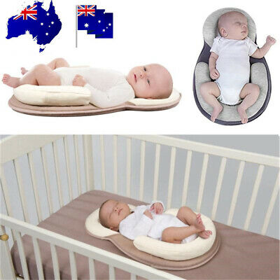 Baby Infant Breathable Pillow Cushion Nest Sleep Mat Crib Portable Anti-rollover