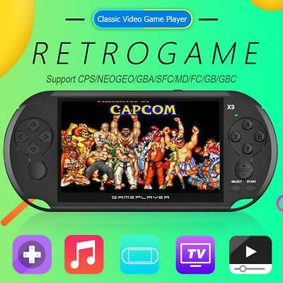 X9 5 inch Handheld Game Console Game Player Built-in 3000 Classic Games Consoles