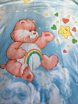 Vintage Care Bears Single Duvet Cover & Pillow Case 1984 Eighties Bedding Set
