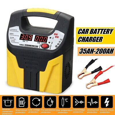 360W 15A LCD Auto Car Battery Charger 12V/24V Vehicle Jump Starter Fast Safety