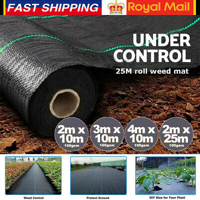 Heavy Duty Weed Control Fabric 100 gsm Ground Cover Membrane Garden landscape UK