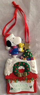 Snoopy And Woodstock Christmas Ornaments.Vintage Peanuts Snoopy Woodstock Christmas Ornament Ufs Lights Charlie Brown