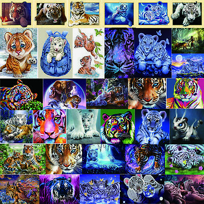 5D Tiger Diamond Painting Diamant DIY Kreuzstich Stickerei Malerei Bilder Dekor